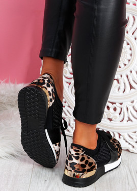 Minne Leopard Trainers