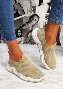 Tico Beige Sport Trainers