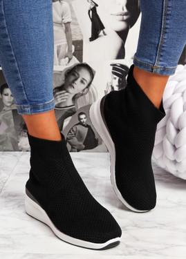 Sue Black Sock Sneakers