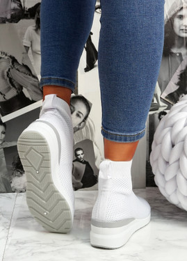 Sue White Sock Sneakers