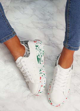 Syde White Black Multicolor Trainers
