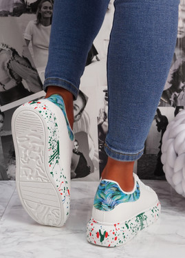 Syde White Blue Multicolor Trainers