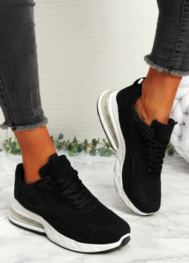 Lonny Black Chunky Trainers
