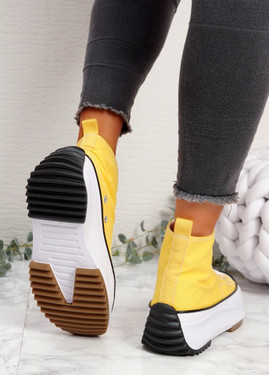 Nuve Yellow Flatform Trainers