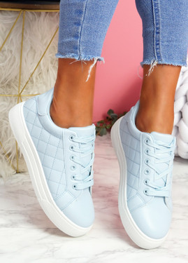 Koby Light Blue Platform Trainers