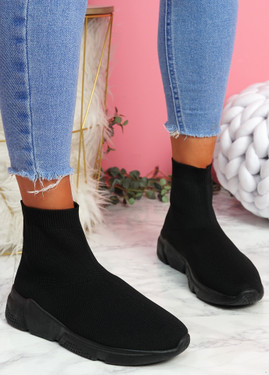 Bodde Black Sock Sneakers