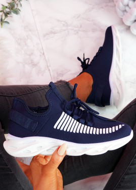 Hety Blue Chunky Trainers