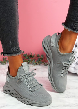 Hety Grey Chunky Trainers