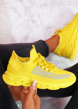 Hety Yellow Chunky Trainers
