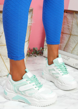Huve Green Chunky Sneakers