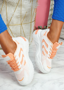Huve Orange Chunky Sneakers