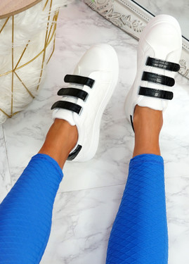 Jiko White Black Platform Trainers