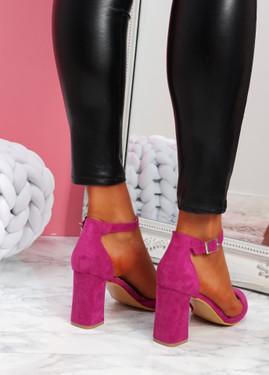 Pamma Fuchsia Ankle Strap Pumps