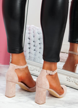 Pamma Pink Ankle Strap Pumps