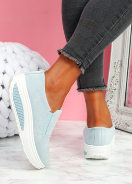 Lote Light Blue Slip On Sport Trainers