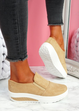 Lote Beige Slip On Sport Trainers