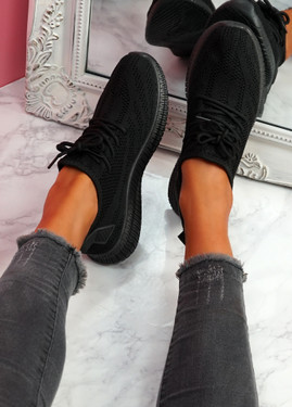 Envo Black Knit Trainers