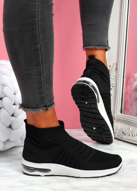 Iny Black Sock Sneakers