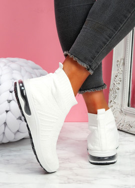 Iny White Sock Sneakers