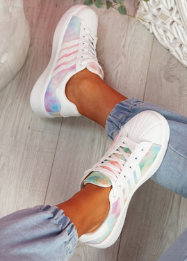 Tanna White Rainbow Trainers