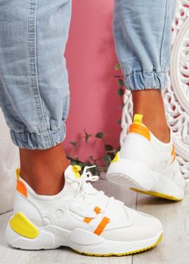 Nozo White Chunky Sneakers