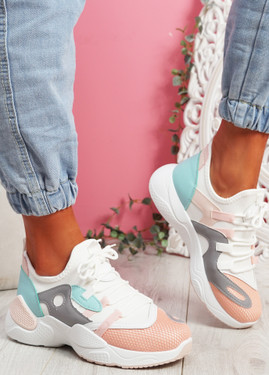 Nozo Pink Chunky Sneakers