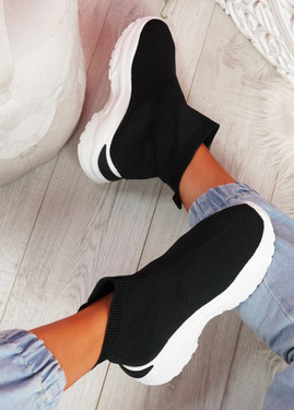 Zime Black Sock Chunky Sneakers