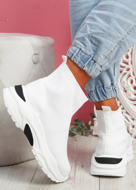 Zime White Sock Chunky Sneakers