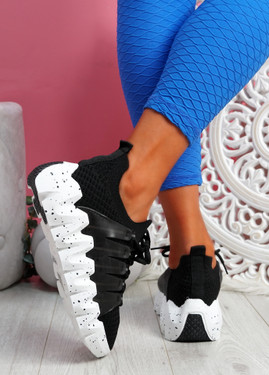 Zeppa Black Chunky Sneakers