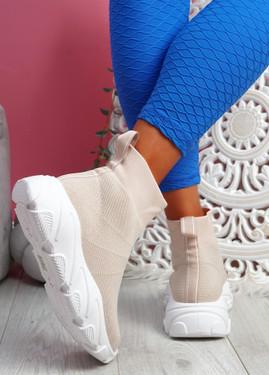 Roka Pink Sock Chunky Sneakers