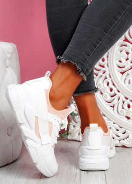 Nommy Pink Chunky Trainers