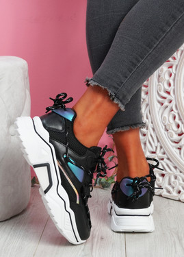 Jona Black Chunky Sneakers