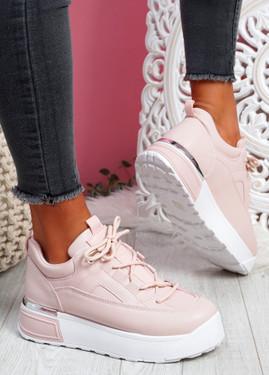Cutty Pink Flatform Trainers