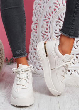 Cutty Beige Flatform Trainers