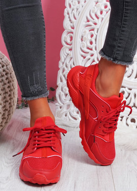 Yutty Red Sport Sneakers