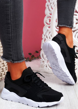 Yutty Black White Sport Sneakers