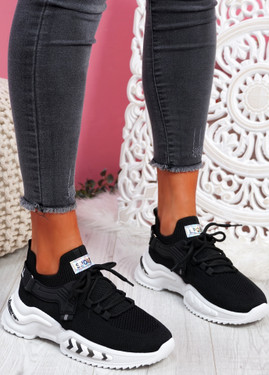 Tony Black Sport Sneakers