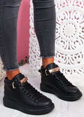 Locy All Black Lock Trainers