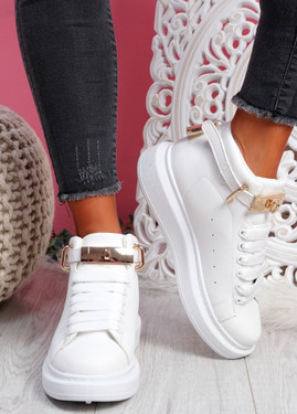 Locy White Lock Trainers
