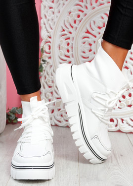 Rife White Sock Chunky Trainers