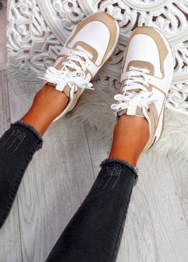 Tonne White Wedge Trainers