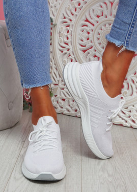 Goka White Sport Sneakers