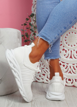 Nuza White Sport Sneakers
