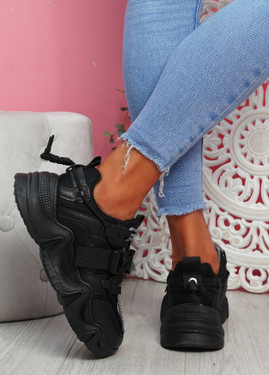 Piko Black Chunky Sneakers