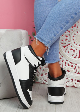 Humo Black White High Top Trainers