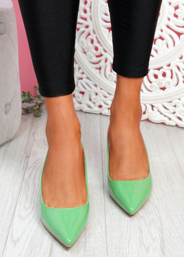 Inso Green Sling Back Stiletto Pumps