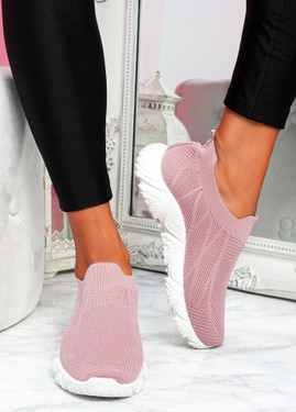 Komy Pink Slip On Sneakers