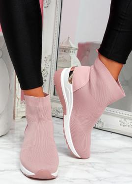Goba Pink Sock Sneakers