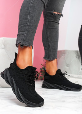 Zamy Black Running Trainers