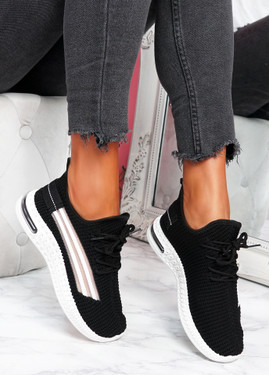 Gonna Black Knit Sneakers